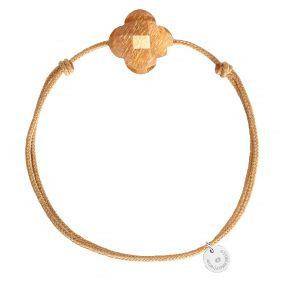 Bracelet cordon trèfle pierre de soleil
