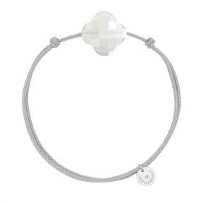 Bracelet cordon trèfle pieere de lune