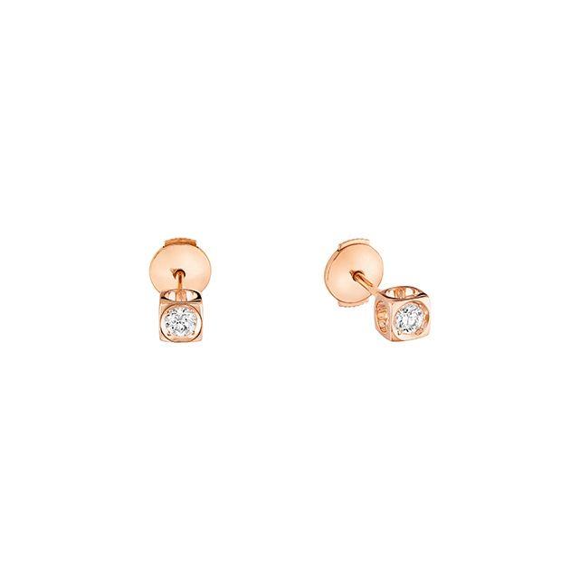 Boucles d'oreilles puces Le Cube Diamant