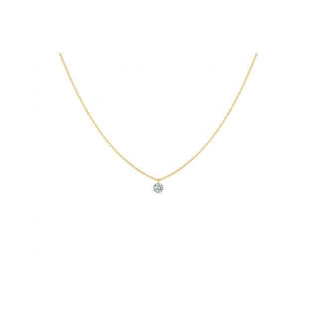 Collier  360°- 1 diamant
