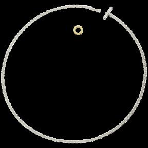 Collier Chaine argent anneau brisé