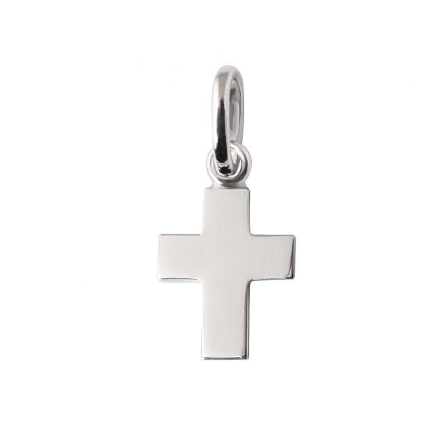 Pendentif Croix Or Gris