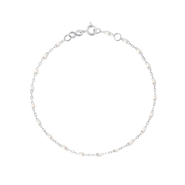 Bracelet or gris perles de résines