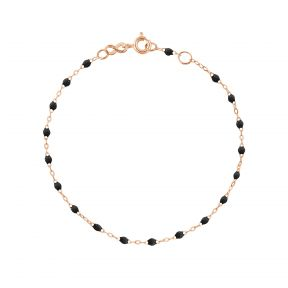 Bracelet or rose perles de résines