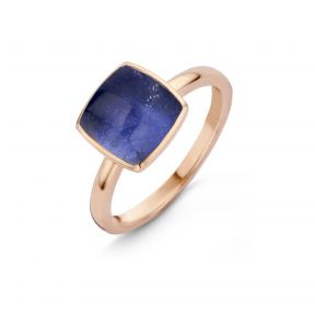 Bague or rose Sodalite