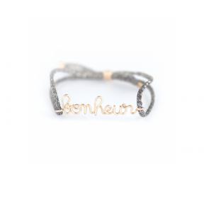 Bracelet Cordon Lurex Bonheur