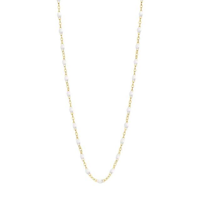 Collier or jaune perles de résines