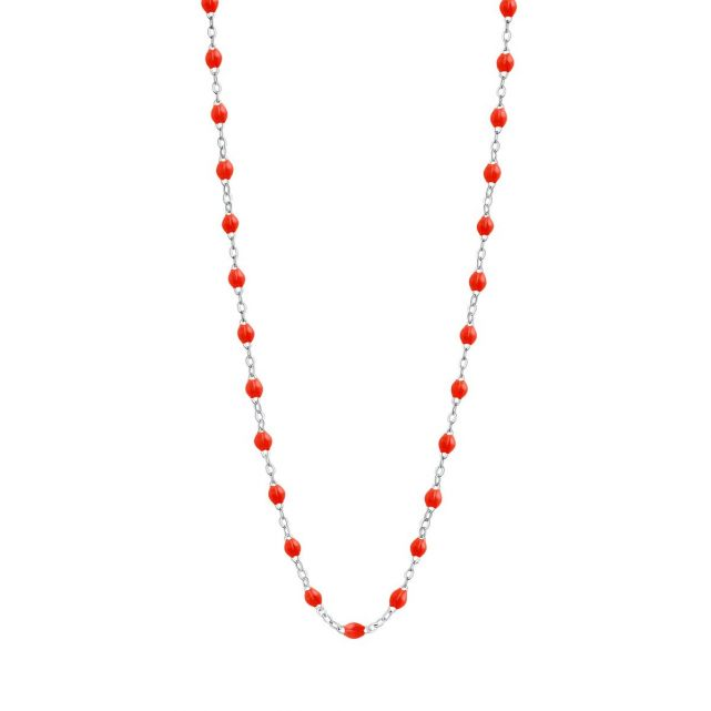 Collier or gris perles de résines