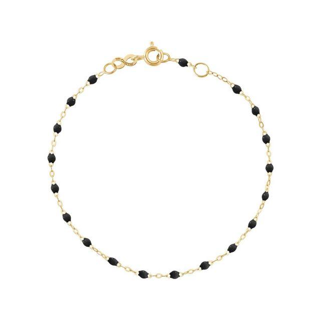 Bracelet or jaune perles de résines