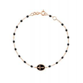 Bracelet Croix Perles Résines Or