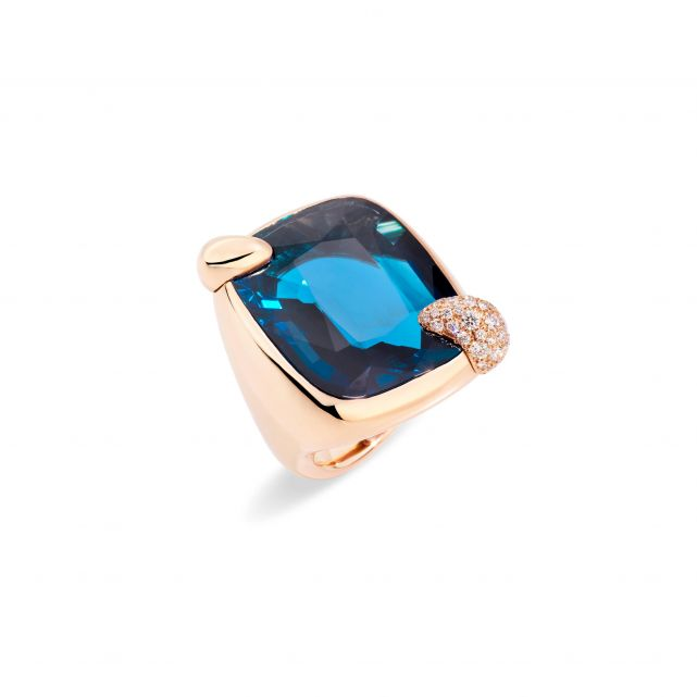 Bague Ritratto Large Topaze Bleue London
