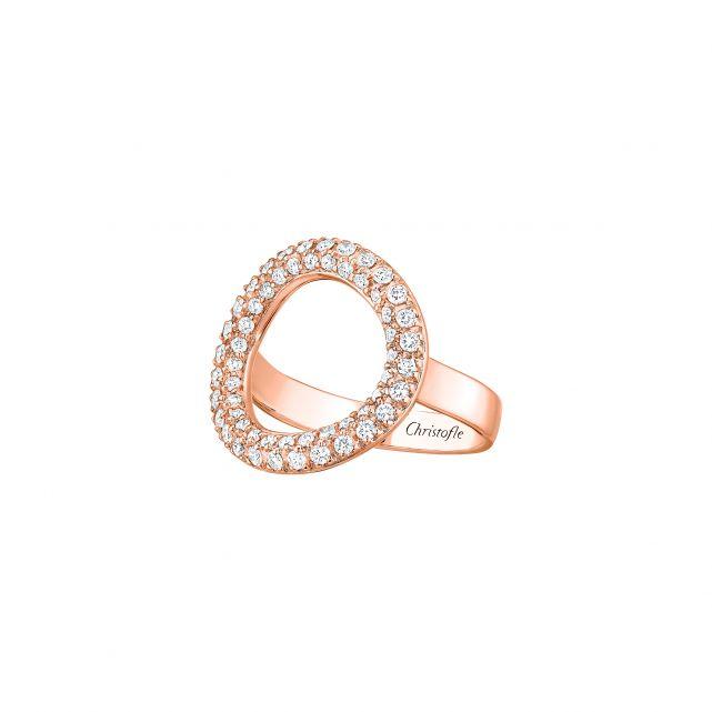 Bague idole or rose et diamants