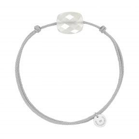 Bracelet cordon Pierre de Lune blanche